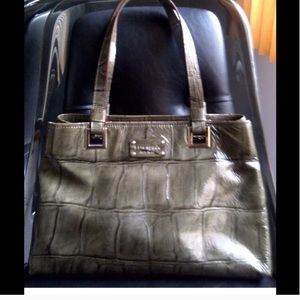 Authentic Kate Spade Croc Patent Leather Tote